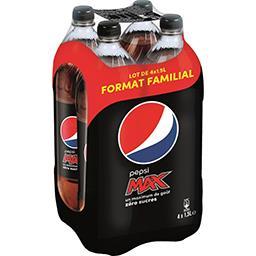 Pepsi Pepsi Max - Soda au cola zéro sucres les 4 bouteilles de 1,5 l