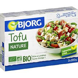 Bjorg Bjorg Tofu nature BIO les 2 sachets de 200 g