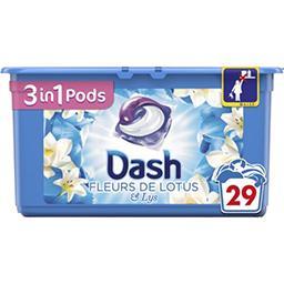 Dash 3en1 - pods - fleurs de lotus - lessive en capsules ...