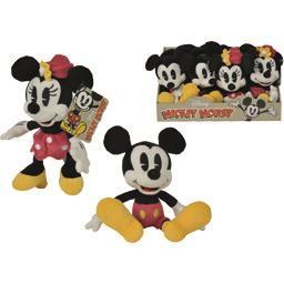 Peluche Mickey/Minnie classique 17 cm