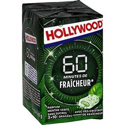 Hollywood Chewing-gum 60 min de fraîcheur menthe verte, sans s...