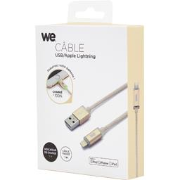Câble USB/Lightning LED en nylon 1 m, or