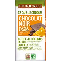 Ethiquable Ethiquable Chocolat noir écorce orange BIO la tablette de 100 g