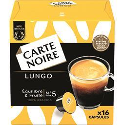 Carte Noire Carte Noire Capsules Lungo n°5 équilibré & fruité les 16 capsules de 8 g