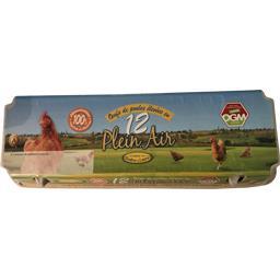 Sélectionné par votre magasin Œufs de poules élevées en plein air la boite de 12