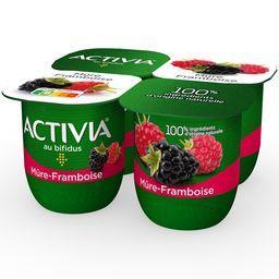 Activia - Lait fermenté au bifidus mûre framboise