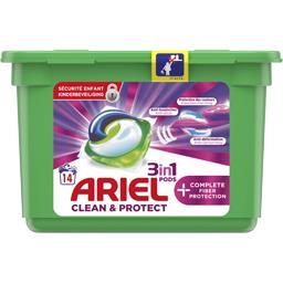 Ariel Ariel Lessives en capsules 3en1 fibres protection complète La boîte de 14 capsules