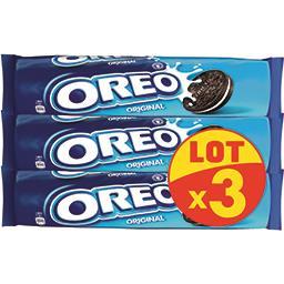 Oreo Oreo Biscuits cacaotés Original fourrés vanille le lot de 3 paquets de 154 g