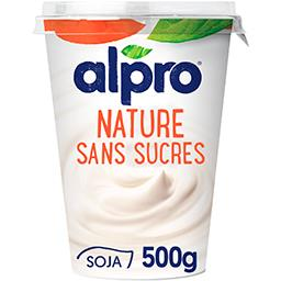 Alpro Alpro Dessert végétal nature sans sucres le pot de 500g