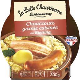 La Belle Chaurienne Choucroute garnie cuisinée au Riesling