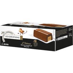 L'Intense bûche chocolat praliné