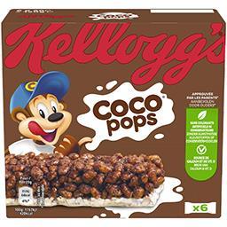Kellogg's Kellogg's Coco Pops - Barres de céréales riz soufflé goût chocolat les 6 barres de 20 g