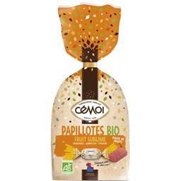 Cémoi Papillotes Fruit Sublime orange abricot fraise BIO le paquet de 320 g