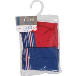 Boxers marine/rouge pocket 2/3 ans
