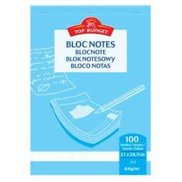 Bloc-notes 21x29,7 cm petits carreaux