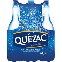 Quézac Quézac Eau minérale naturelle gazeuse les 6 bouteilles de 1,15 l