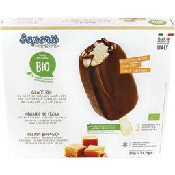 Saporit Glace au goût caramel salé couverture chocolat au la... les 3 bâtonnets de 75 g