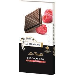 Fruité Les Créations Le Fruité chocolat noir éclats framboise la tablette de 100 g