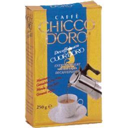 Chicco d'oro Café cuor d'oro moulu décaféiné Le paquet de 250 gr