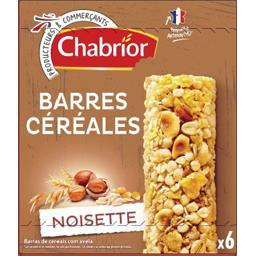 Barres céréales noisettes