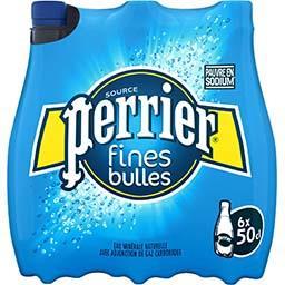 Perrier Perrier Eaux gazeuze minérale naturelle fines bulles le pack de 6 bouteilles de 50cl