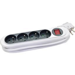 Bloc 4 prises + interrupteur range câble 230V-50Hz 3500W 16A