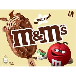 M&M's M&M's Glace vanille Chocolate sauce chocolat les 4 bâtonnets de 78 ml