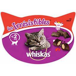 Whiskas Whiskas Les Irrésistibles - Friandises au bœuf pour chats la boite de 60 g