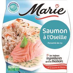 Saumon à l'oseille panaché de riz