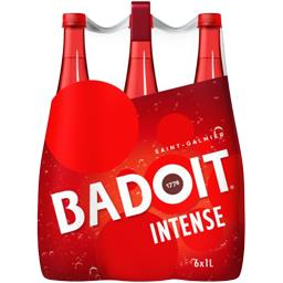Badoit Badoit Rouge - Eau gazeuse minérale naturelle gazeuse les 6 bouteilles de 1 l
