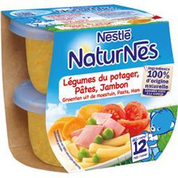 Légumes du potager pâtes jambon, dès 12 mois