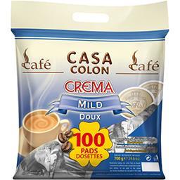 Casa Colon Dosettes de café moulu Crema doux la paquet de 100 - 700 g