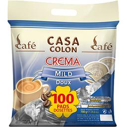 Dosettes de café moulu Crema doux
