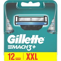 Gillette Gillette Lames de rasoir pour homme Mach3+ La boite de 12 lames
