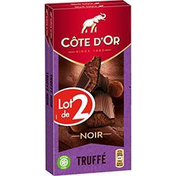 Côte d'Or Côte d'Or Chocolat noir truffé le lot de 2 tablettes de 200 g