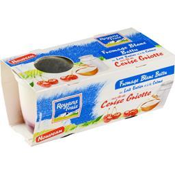 Royans Frais Fromage blanc sur lit de cerise griotte les 2 pots de 110 g