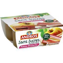 Dessert fruitier pomme rhubarbe sans sucres ajoutés