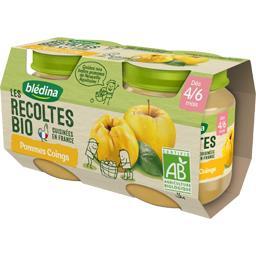 Les Récoltes BIO - Pommes coings BIO, dès 4/6 mois