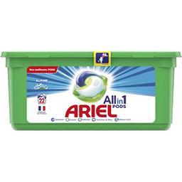 Ariel Ariel All in 1 pods, lessive en capsules fraicheur alpine La boîte de 22 lavages