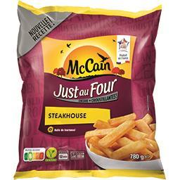 Mc Cain McCain Just au Four - Frites Steakhouse le sachet de 780 g