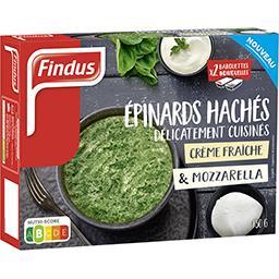 Findus Findus Epinards hachés cuisinés crème fraîche & mozzarella la boite de 450 g