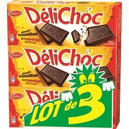 Délichoc - Biscuit croustillant chocolat noir
