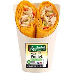 Wrap poulet Caesar galette tomate halal