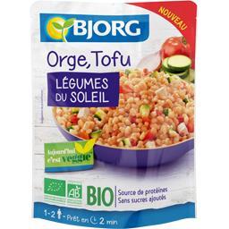Orge, tofu, légumes du soleil BIO