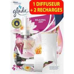 Glade Diffuseur électrique Relaxing Zen le diffuseur + 2 recharges de 20 ml