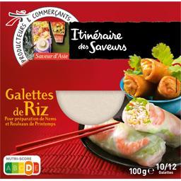 Galette de riz pour nems et rouleaux de printemps