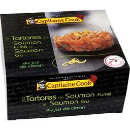 L'Irrésistible tartare de saumon fumé et saumon cru