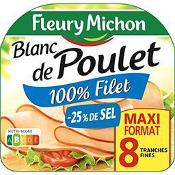 Fleury Michon Fleury Michon Blanc de poulet cuit de qualité supérieur la barquette de 8 tranches - 240 g