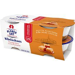 Fromage blanc Bibeleskaes sur lit de caramel