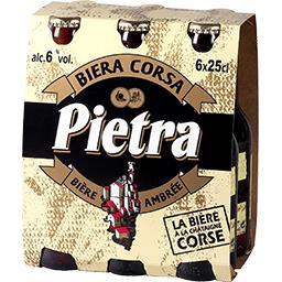 Brasserie Pietra Pietra Bière Corse de caractère Le pack de 6 bouteilles de 25cl